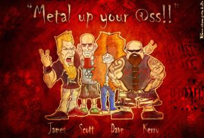 The Big Four of Thrash Metal concept! by Emanpris