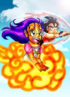 Goku and Arale: Let's fly away by YamchaFan91