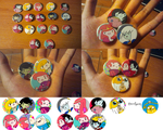 Adventure Time Buttons by xsweet-rainex