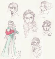 Tangled Sketchdump by mox-ie