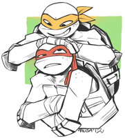 raph and mikey by zerostop
