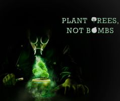 Plant Trees, Not Bombs by RohMah1