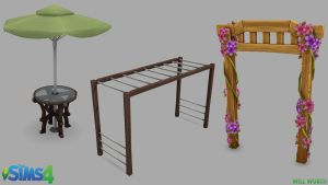 The Sims 4: Outdoor Props by DeadXIII