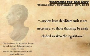 Thought for the Day - September 18th, 2013 by ebturner