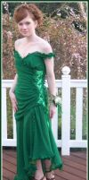 Green Flamingo Prom Dress by Confsin