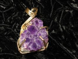 another amethyst geode by DPBJewelry