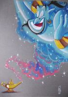GENIE FROM DISNEYS ALADDIN by ARTIEFISHEL79