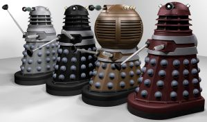 Comicbook Daleks! by Librarian-bot
