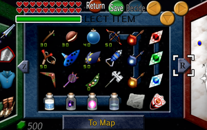 Ocarina of Time Inventory by BLUEamnesiac