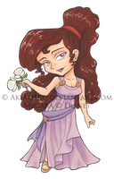 Megara Copic Chibi by AkiAmeko