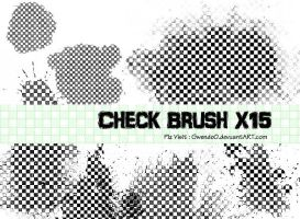 Check photoshop brush x15 by gwendo0