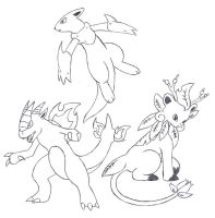 Fake Starter Pokemon 2 by Dragga