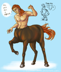 Theo centaur by Sockless-Sheep