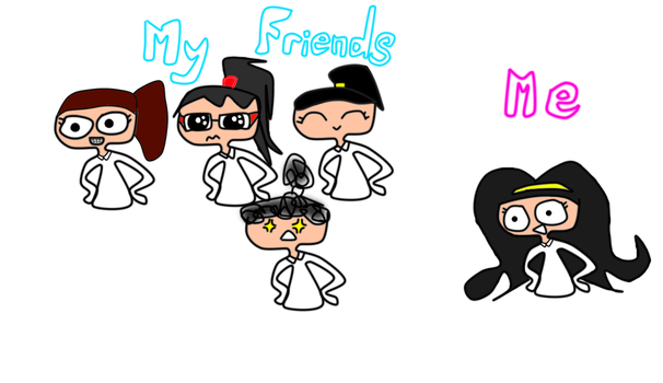 my friends and me.... by OnedreamOnegirl