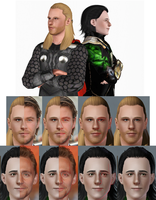 Thor and Loki- Download- Sims 3 by OneEuroMutt