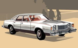 1977 Ford LTD II by CRWPitman