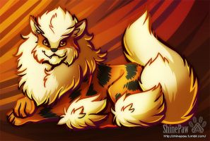 Arcanine - Day7 by ShinePawArt