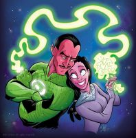 Sinestro and Arin Sur by marimoreno
