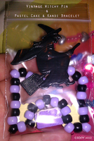 Vintage Witchy Pin And Pastel Cake Kandi by beefyrae