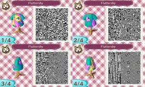 Animal Crossing New Leaf Fluttershy Design QR-Code by Stiv64