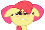 Applebloom sadface vector by wintrparkgrl