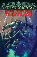 TMNT Infestation 2 cover by LivioRamondelli