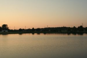 Lake at Sunset by t43tb0wh4x0r