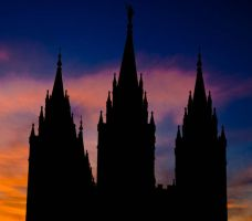 Spires of the LDS Temple by clinekurt78