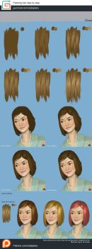Painting hair tutorial step by step by XiaTaptara