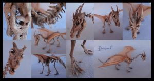 skeleton dragon by rivalmit