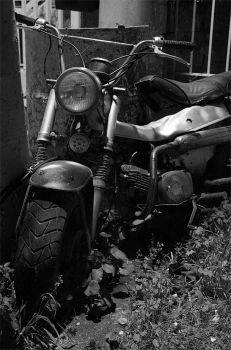 Old motorcycle by frostvamp