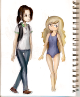 2 girls I saw while going to school by MoonLight3