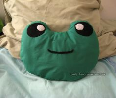 Frog Pillow by Toadychan
