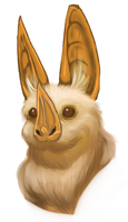 Yellow Wing Bat doodle by FullmetalDevil