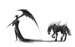Speedpaint: Pitch Black and a Nightmare by slifertheskydragon