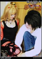 Death Note Cosplay: LxMisa: Tempting by Redustrial-Ruin