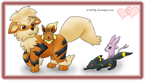 playing with Arcanine by Isi-Daddy