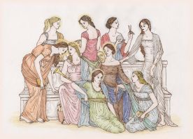Olympian Gods Group 2: Muses by XIXDeviant