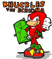 _ Knuckles The Echidna _ by Umbra-Flower
