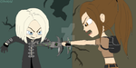 Amanda and Lara - Tomb Raider by RavenEvert