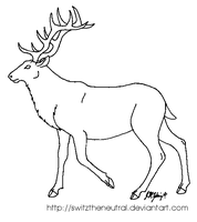 Free use MSP elk template by pinemartenartin