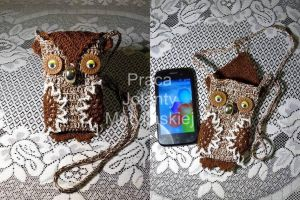 Owl - Smartphone Cover by jolabrodnica
