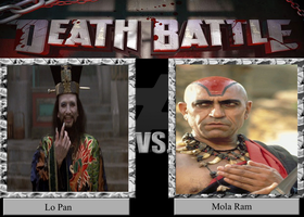 Death Battle Idea - Lo Pan vs. Mola Ram by Stylistic86