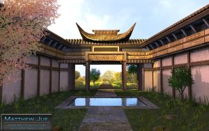 Chinese Temple by WaffleJuey