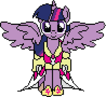 Twilight Sparkle Princess Pixel by WoWFluttershy