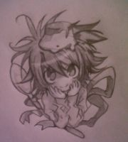 Cute chibi L sketching by Hidany-Wolven39