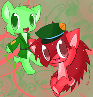 Flippy and Flaky again.. by chibitracy