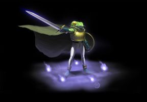 Chrono Trigger Frog by Arbitrarian