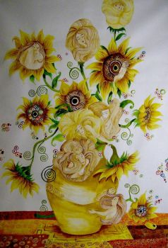 'The SunFlowers' -Entire- by elia-illustration