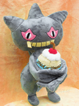 Banette wishing you -A Happy Halloween Mwhaha by PlushPrincess